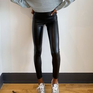 Aritzia Wilfred Free Daria Vegan Leather Leggings